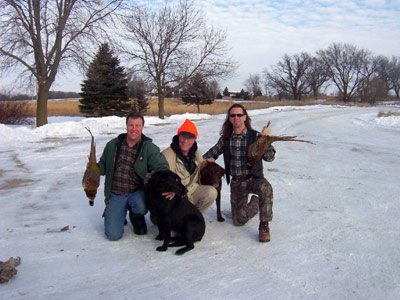 pic29hunting pheasants with steve and mike