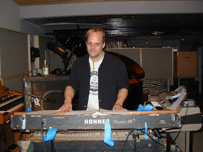 pic36shawn pelton in studio during recording of naked movies